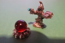 Pewter Wizard With Spell Book And Crystal Ball