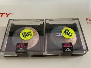 MAYBELLINE EYESTUDIO EYESHADOW *90 SILVER STARLET* LOT OF 2, FAST SHIPPING!