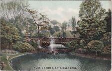 Rustic Bridge In The Park, BATTERSEA, London