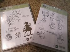 New Stampin Up Easter Blossoms and Everybunny Stamps lot of 2