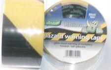 Hazard Warning Tape 50mm X 33m Black and Yellow PVC Roll Caution Adhesive
