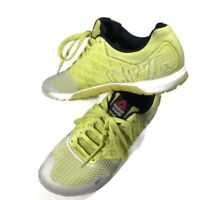 Reebok Crossfit CF74 Womens Size US 9.5 Shoes Yellow Lime Gray