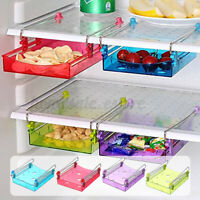Fridge Space Saver Storage Slide Under Shelf Rack Organizer Drawer Kitchen