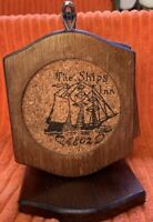 The Ships Inn Wood & Cork Hanging Coasters Set Of 6