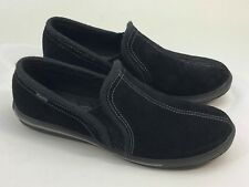 Keds Womens Black Suede Comfortable Walking Shoes Size 8 Slip On A3006