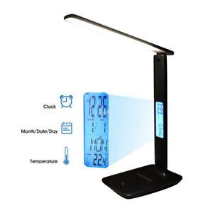LAMPADA DA SCRIVANIA LED DIMMERABILE RICARICABILE USB LETTURA TAVOLO LUCE LIBRO