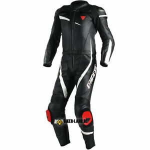Dainese Veloster 2 PC Leather Suit Black-White Size 54