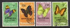 1973 Tanzania SC O17//O26 O23-O26 Used Lot of 4 High Value Officals Butterflies*
