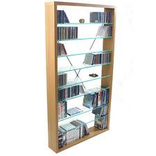 ARIZONA - Glass CD DVD Media Storage Shelves MS9300