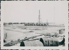 Sénégal, Dakar, construction du barrage de Dakar Bongo Vintage silver print