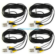 4 100Ft 30M Bnc Cctv Surveillance Security Camera Video Dc Power Cable Wire Cord