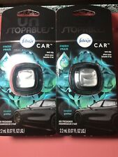 2 FEBREZE Unstopables Car Vent Clips Air Fresheners, Fresh .07 Fl Oz. Each - NEW