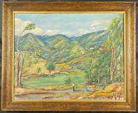 Double Sided Acrylic Haitian Painting Signed M.H