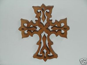Handcrafted Oak Cross- for wall hanging