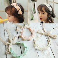 réglable enfants enfants bébé lace fleur ruban les filles bandeau ruban pearl