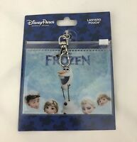 Disney Parks Frozen Lanyard Pouch Olaf Elsa Anna Pin Trading New