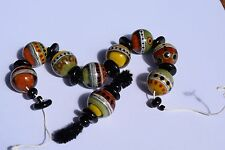 "Art Insomnia Handmade Glass Lampwork Beads necklace charm ""Autumn Harvest"""