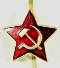 Real Soviet Russian Army Red Star Soldier Cap Hat Badge _ USSR CCCP Militaria