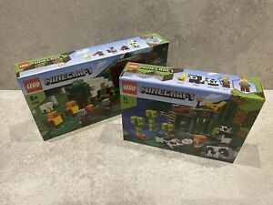 Lego Minecraft 21158 Panda Nursery & 21159 Pillager Outpost Bundle BRAND NEW