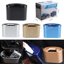 Mini Office Vehicle Auto Car Garbage Dust Case Holder Box Bin Trash Rubbish Can