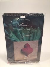 Hallmark Christmas Gift Tag Trim Red Honeycomb Ornament 2-Count