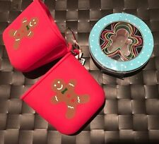 Silicone Glove Oven Mitt Pot Holder Pair Cookie Cutter Set Gingerbread Holiday
