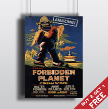 FORBIDDEN PLANET *1956 MOVIE POSTER A3 A4 Sci-fi Classic Vintage Film Art Print