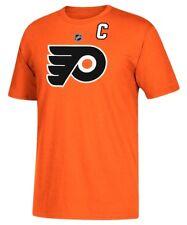 Philadelphia Flyers NHL Reebok Ice Orange Captain C Jersey T-Shirt Mesh Logo XL