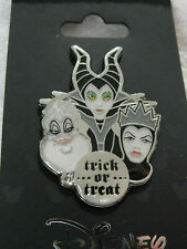 Disney Pin Villains Maleficent Ursula Evil Queen Trick Treat Halloween Monogram