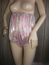 2 SOFT SHIMMERING SILKY MULTI COLOR  PANTIES S ADULT BABY CDTV COSPLAY XXL 58""