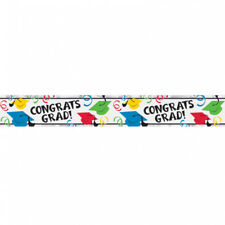 Amscan Graduation Hats Foil Banners Multi-colour.