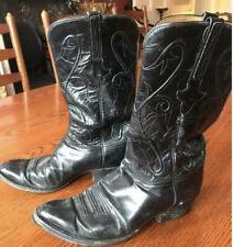 Lucchese Classics Black Goat Handmade Cowboy Boots Men 10.5US 9.5UK