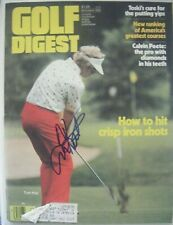 TOM KITE signed 1979 GOLF DIGEST magazine AUTO Autographed TEXAS LONGHORNS PGA