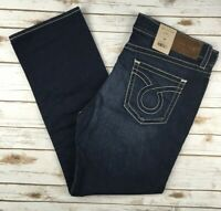Mens Big Star Jeans Low Rise Union Straight Leg Embroidered Dark Jeans 36 38 40
