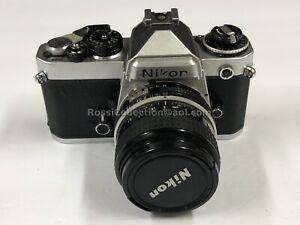 C02_031 Nikon FE 35mm Camera with 24mm 2,8 NIkkor Lens Stamped Japan