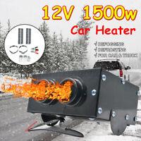 1500W 12V 2 Hole Car Air Heater Fan Quick Heating Windscreen Defroster Demister