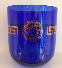 Versace Rosenthal Dyonisos Vase / Ice Bucket in Cobalt Blue / Gold - New in Box