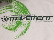 MOVEMENT 2012 T shirt Detroit Electronic Music Festival White DJ Adult Sz Medium
