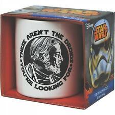 "Star Wars Taza de cerámica OBI WAN "" THESE AREN 't the Droides"" Regalo mangas"