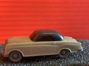 Wiking Grey & Beige Mercedes 1/87 HO Scale Vehicle Made In Berlin W. Germany