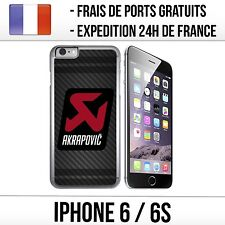 Coque iPhone 6 et 6S - Akrapovic Carbone