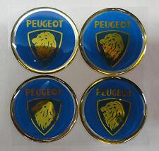 Vintage 90's Automotive Wheel Center Cap Round Emblem Accent Trim PEUGEOT 2.00