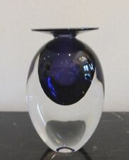 Michael Trimpol 1994 Signed Amethyst Art Glass Perfume Bottle Without Stopper