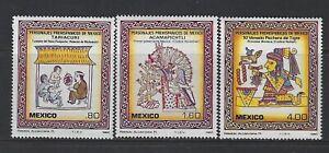 MEXICO - #1285-#1287 - PRE-HISPANIC PERSONALITIES MINT SET (1982) MNH