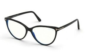 Tom Ford spectacle frame TF5743-B in col 001 shiny black with case 57mm