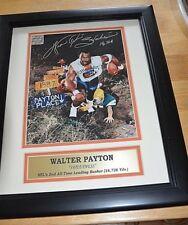 WALTER PAYTON PLACE  Chicago BEARS  Signed 16x14 COA  Autographed #2 NFL RUSHER