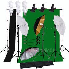 Photo Studio Lighting Photography Backdrop Umbrella Light Background Stand Kit