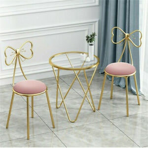 Set of 2 Dining Chairs Velvet Fabric Metal Legs Dining Room Lounge Office
