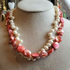 Huge Real Pearl & shell necklace in good used condition
