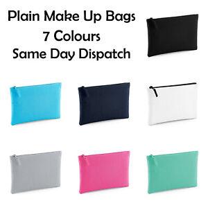 PLAIN MAKE UP BAG   Wash Bag Gift Women Birthday Gift   Plain Blank Make Up Bag